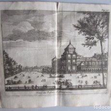 Arte: 1707-PALACIO REAL DE ARANJUEZ. MADRID.DELICES ESPAÑA.GRABADO ORIGINAL JUAN ALVAREZ COLMENAR. Lote 66159730