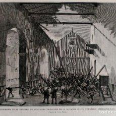 Arte: CORUÑA HUNDIMIENTO DEL PRESIDIO (1879). Lote 66303678