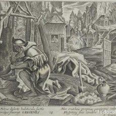 Arte: ALDEA DE EREMITAS, 1688. JOAN Y RAPHAEL SADELER. Lote 66463518