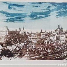 Arte: GRABADO AL AGUAFUERTE FIRMADO POR CLAVO OBRA VISTA DE TOLEDO. Lote 66504374