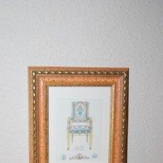 Arte: GRABADO SILLA ESTILO IMPERIO - SIGLO XVIII. Lote 66932722