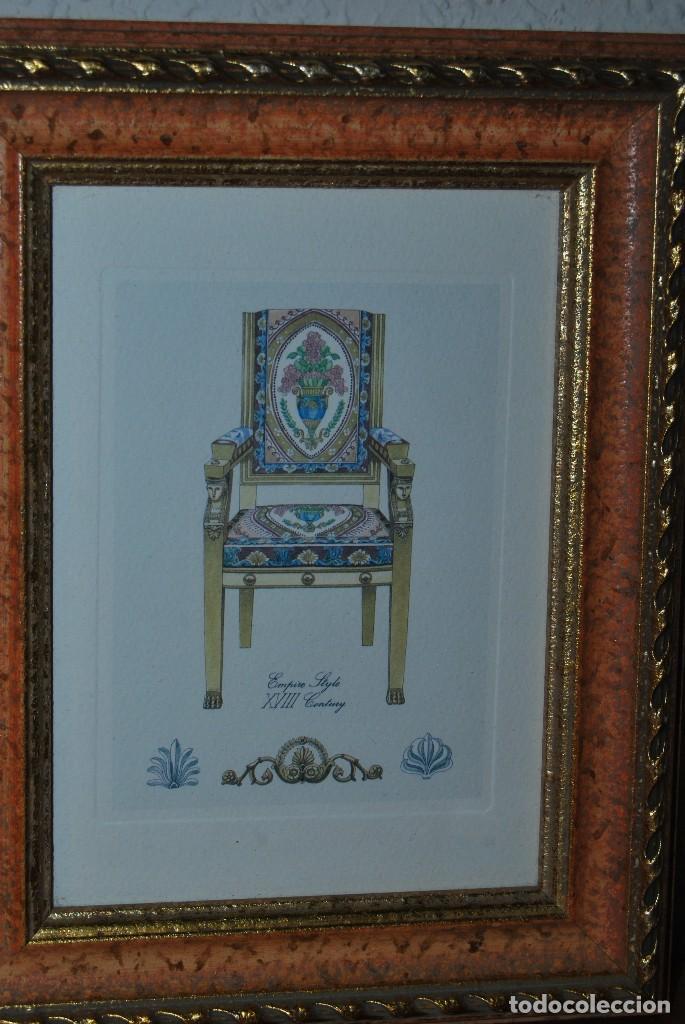 Arte: GRABADO SILLA ESTILO IMPERIO - SIGLO XVIII - Foto 2 - 66932722