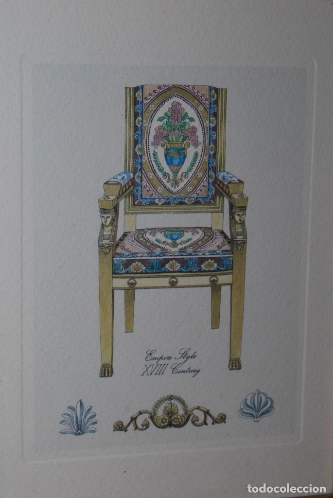Arte: GRABADO SILLA ESTILO IMPERIO - SIGLO XVIII - Foto 3 - 66932722