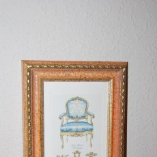 Arte: GRABADO SILLA BARROCO ITALIANO - SIGLO XVIII. Lote 66932854