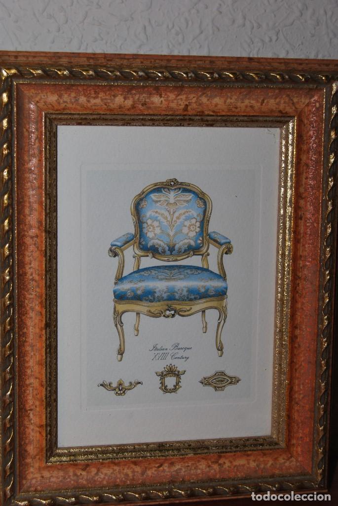 Arte: GRABADO SILLA BARROCO ITALIANO - SIGLO XVIII - Foto 2 - 66932854