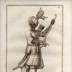 Arte: MAGNIFICO GRABADO - SIGLO XVIII - MURAT JEFE DE LOS ETÍOPES - NÚM. 67. Lote 29378572
