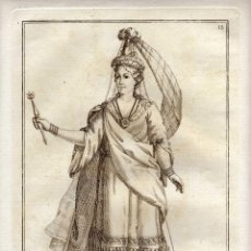 Arte: MAGNIFICO GRABADO - SIGLO XVIII - LA REINA DE SIAN - J.BZ - NÚM. 12. Lote 29378465