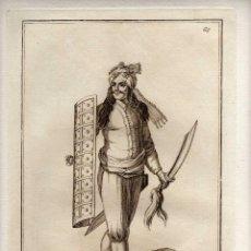 Arte: MAGNIFICO GRABADO - SIGLO XVIII - UN SOLDADO DE AMBOINE ARMADO EN GUERRA - NUM. 65. Lote 29378502