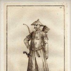 Arte: MAGNIFICO GRABADO - SIGLO XVIII - MANDARIN DE GUERRA DE LA TARTARIA CHINA - BZ - NUM. 66. Lote 29378541