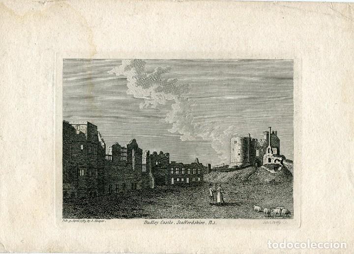 INGLATERRA. DURHAM CASTLE, STAFFORDSHIRE, GRABADO POR GODFREY, 1785 (Arte - Grabados - Modernos siglo XIX)