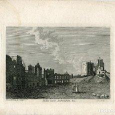 Arte: INGLATERRA. DURHAM CASTLE, STAFFORDSHIRE, GRABADO POR GODFREY, 1785 . Lote 67324097