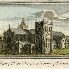 Arte: INGLATERRA. VIEW OF OTTERY PRIORY IN THE COUNTY OF DEVON, 1769.. Lote 67326449