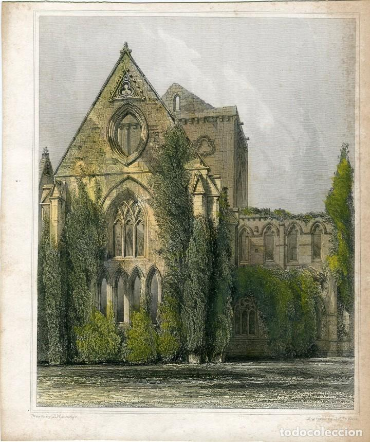 CATEDRAL GRABADO POR J.H. LE KEUX, DIBUJÓ R.W. BILLINGS (Arte - Grabados - Modernos siglo XIX)