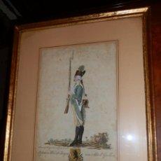 Arte: GRABADO COLOREADO ORIGINAL S.XVIII, SUIZO, FRANZ FEYERABEND.HUELLA 23X36,EN MARCO 54X44. Lote 67346813