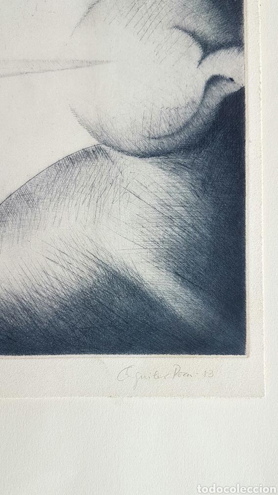 Arte: Aguilar Pozo, interesante grabado (punta seca) firmado P.E. - Foto 2 - 67392675