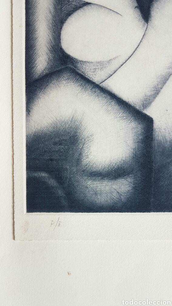 Arte: Aguilar Pozo, interesante grabado (punta seca) firmado P.E. - Foto 3 - 67392675