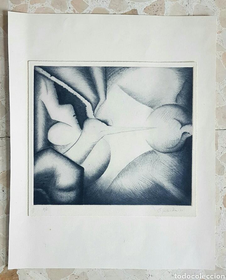 Arte: Aguilar Pozo, interesante grabado (punta seca) firmado P.E. - Foto 4 - 67392675
