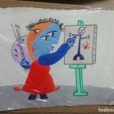 Arte: JUAN RIPOLLES GRABADO RELIEVE 37 X 27 CM. Lote 67475101