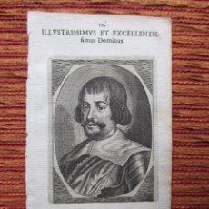Arte: 1652-FRANCISCO DE MELO Y CASTRO.FLANDES.MADRID. GRABADO ORIGINAL. Lote 68061505