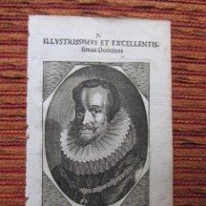 Arte: 1652-AMBROSIO SPINOLA. ORDEN DE SANTIAGO. DUQUE DE SESTO.FLANDES. GRABADO ORIGINAL. Lote 68061785