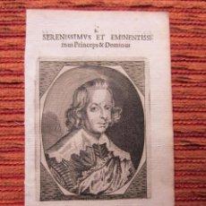 Arte: 1652-INFANTE CARDENAL FERNANDO.HIJO DEL REY FELIPE III. VIRREY DE CATALUÑA. GRABADO ORIGINAL. Lote 68062293