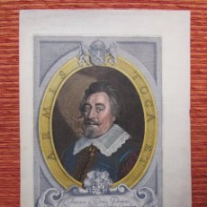Arte: 1648-FRANCISCO DONIA. PAZ DE WESTFALIA GRABADO ORIGINAL COLOR. Lote 68064777