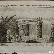 Arte: VISTA DE LAS CATARATAS DEL NIÁGARA EE.UU/CANÁDA), 1782. G.H. MILLAR/PAGE. Lote 68228405