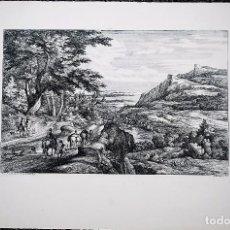 Arte: PAISAJE. ADAM-FRANS VAN DER MEULEN, PINTÓ. A.F. BAUDUIN, GRABÓ.. Lote 70135901