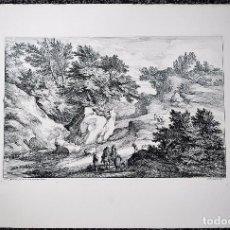 Arte: PAISAJE. ADAM-FRANS VAN DER MEULEN, PINTÓ. A.F. BAUDUIN, GRABÓ.. Lote 70136121