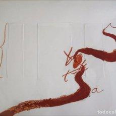 Arte: ANTONI TÀPIES - SINUÓS II - AGUAFUERTE Y CARBORUNDUM CON RELIEVE- EJEMPLAR BAT. Lote 70361509