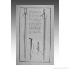 Arte: INSTRUMENTOS DE SACRIFICIO (TOMO IV -PL. FINAL). / SACRIFICES (PL. A LA FIN DU TOM. IV). - MONTFAUCO. Lote 54239822