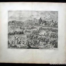 Arte: 1729 -BIBLIA - 2ª PLAGA DE EGIPTO - RANAS - EXODO - LUYKEN - ENGRAVING - GRAVURE. Lote 70486145