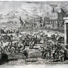 Arte: 1729 - BIBLIA - 4ª PLAGA DE EGIPTO - INSECTOS - EXODO - LUYKEN - ENGRAVING - GRAVURE. Lote 70486553
