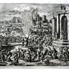 Arte: 1729 - BIBLIA - 6ª PLAGA DE EGIPTO - LEPRA - LUYKEN - ENGRAVING - GRAVURE. Lote 70486949