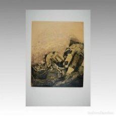 Arte: AGUAFUERTE LUCIO MUÑOZ (SIN TITULO 1972) - LUCIO MUÑOZ. Lote 54240015