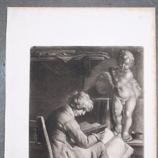Arte: BOY SEATED AND READING A VOLUME IN A STUDIO BEFORE A CAST OF THE CHRIST-CHILD. WALLERAN VAILLANT.. Lote 70556613