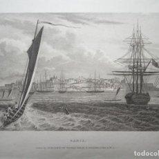Arte: VISTA DE SALVADOR DE BAHIA (BRASIL), 1850. DAWEMPORT. Lote 71163065