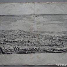 Arte: VISTA DE LA CIUDAD DE TÚNEZ (ÁFRICA), 1647. MATTHAUS MERIAN. Lote 71420975