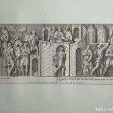 Arte: ESCENA DE LA COLUMNA ROMANA DEL EMPERADOR MARCO AURELIO Nº65.1704.PIETRO BARTOLI/GIOVANI BELLORI. Lote 71484067