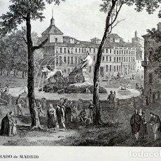 Arte: CARPETA CON 6 GRABADOS DE MADRID. 1806. SIGLO XIX. EDICIÓN LIMITADA. EJEMPLAR NUMERADO. LABORDE. Lote 71676907