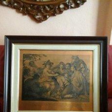 Arte: GRABADO DE LOS BORRACHOS DE VELAZQUE EN PLANCHA DE COBRE ENMARCADO. Lote 71680747