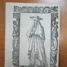 Arte: XILOGRAFÍA DE MUJER DE GALICIA (ESPAÑA), 1598. VECELLIO/SESSA. Lote 72071315