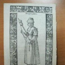 Arte: XILOGRAFÍA DE MUJER PLEBEYA DE VIZCAYA (ESPAÑA), 1598. VECELLIO/SESSA. Lote 72072271