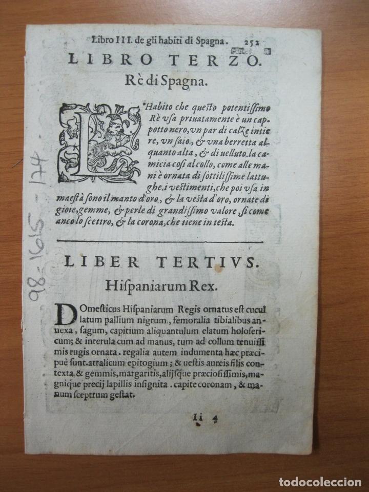 Arte: Xilografía de una mujer noble de España, 1598. Vecellio/Sessa - Foto 2 - 72072779