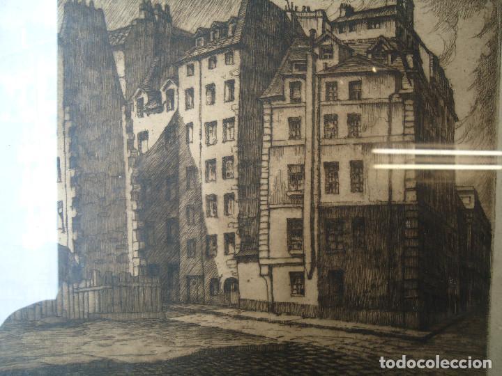 arte castro gil antiguo grabado casas de napolen paris x cm