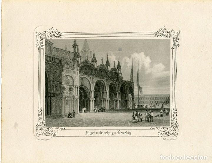 catedral de san marcos en venecia grabado por v - Comprar Grabados ...