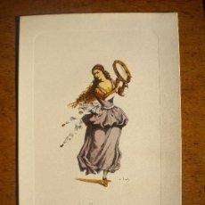 Arte: GRABADO COLOREADO, LA BALLERINA 1972.. Lote 72348895