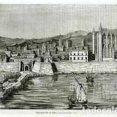 Arte: VISTA DE LA CIUDAD DE PALMA, EN LA ISLA DE MALLORCA. AÑO 1837. . Lote 72408663