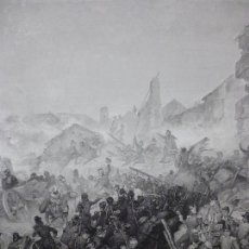 Arte: GRABADO AL ACERO 1860, HORACE VERNET, TOMA DE CONSTANTINA (1837), EN ARGELIA. FRANCIA, INVASIÓN. Lote 72694927