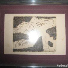Arte: MILOS BAJIC - PRISIONERO EN BANJICA - MAUTHAUSEN. AGUAFUERTE ÚNICO 1/1. Lote 72747371